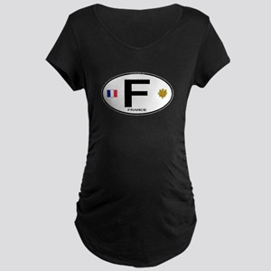 France Euro Oval Maternity Dark T-Shirt