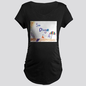 San Diego Maternity Dark T-Shirt
