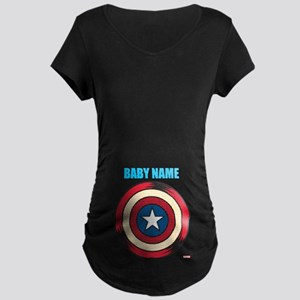 Captain America Comic Shiel Maternity Dark T-Shirt