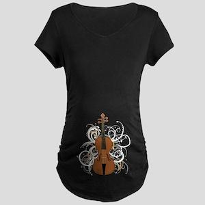 Violin Maternity Dark T-Shirt