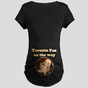Toronto Fan on the way Maternity Dark T-Shirt