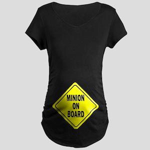 Minion on Board Car Sign Maternity T-Shirt