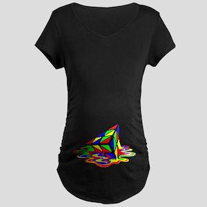 Pyraminx cude painting01B Maternity T-Shirt