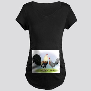 Grey Gamefowl Maternity Dark T-Shirt