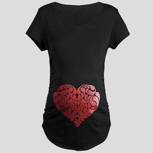 Real Heart Maternity Dark T-Shirt