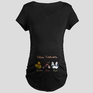 Future Triathlete Maternity Dark T-Shirt