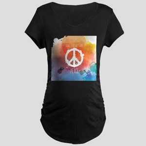 Peace Sign Maternity T-Shirt