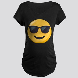 Sunglasses Emoji Maternity Dark T-Shirt