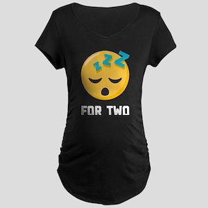 Sleeping for Two Emoji One Maternity T-Shirt