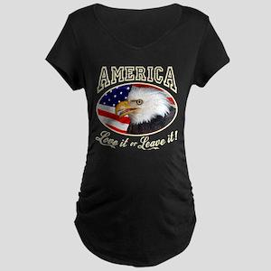 America - Love it Maternity Dark T-Shirt