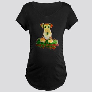 Airedale Holiday Maternity Dark T-Shirt