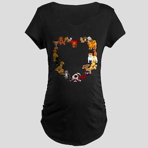 Dog Love Maternity Dark T-Shirt