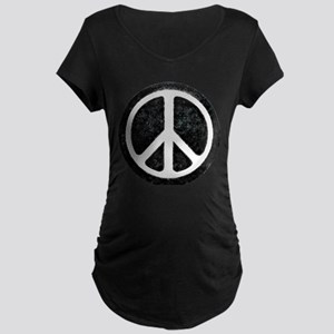 Original Vintage Peace Sign Maternity Dark T-Shirt