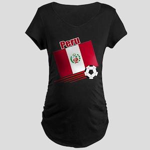 Peru Soccer Team Maternity Dark T-Shirt