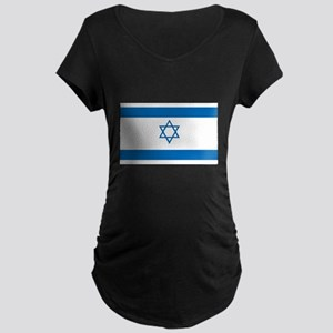 Israeli Flag Maternity Dark T-Shirt