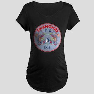 Shanghai Dragons Maternity Dark T-Shirt