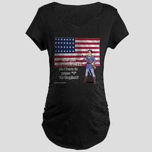 Press 1 for English? Maternity Dark T-Shirt