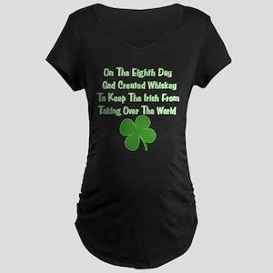 Irish Whiskey Maternity Dark T-Shirt