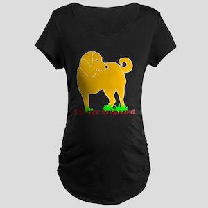 Golden Tripawd Love Maternity Dark T-Shirt