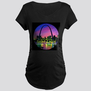 St. Louis Maternity Dark T-Shirt