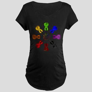 Circle of Violins Maternity Dark T-Shirt