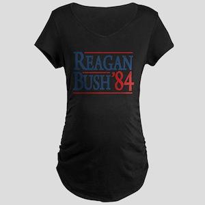 Reagan Bush 84 retro Maternity Dark T-Shirt