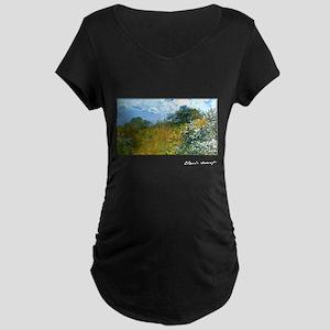 Monet, Springtime, 1873, Maternity Dark T-Shirt