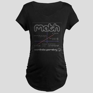 Math Coordinate Geometry Maternity Dark T-Shirt