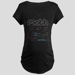 Geometry Maternity Dark T-Shirt