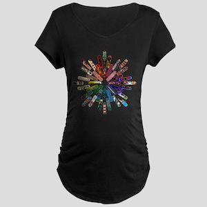 Skateboard Art Mandala Maternity Dark T-Shirt