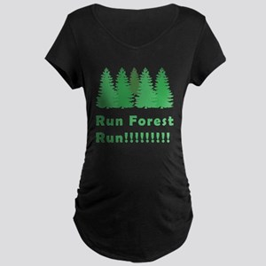 Run Forest Run Maternity Dark T-Shirt