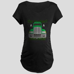 Personalized Im Truckin Maternity Dark T-Shirt