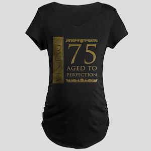 Fancy Vintage 75th Birthday Maternity Dark T-Shirt