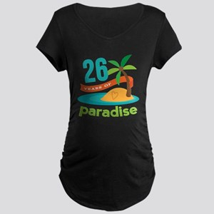26th Anniversary Paradise Maternity Dark T-Shirt