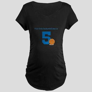 Basketball Star Custom Age Maternity T-Shirt