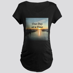 ONE DAY AT A TIME Maternity Dark T-Shirt