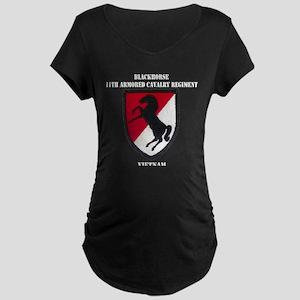 11TH ARMORED CAVALRY REGIME Maternity Dark T-Shirt