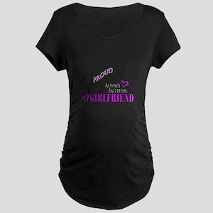 Proud Semper Fi Girlfriend Maternity T-Shirt