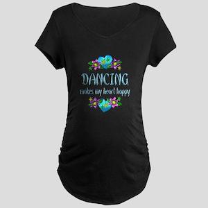 Dancing Heart Happy Maternity Dark T-Shirt
