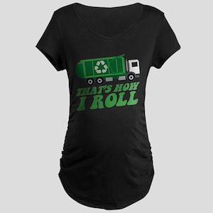 Recycling Truck Maternity T-Shirt