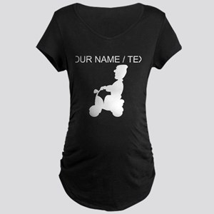 Custom Man On Scooter Maternity T-Shirt