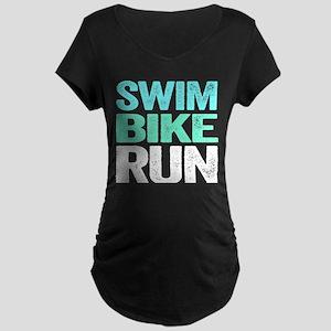 Swim Bike Run Maternity T-Shirt