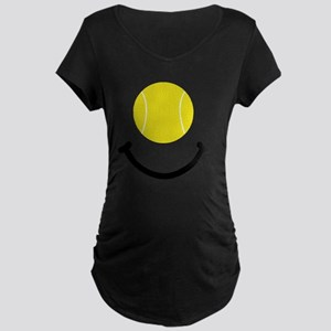 Tennis Smile Black Maternity Dark T-Shirt