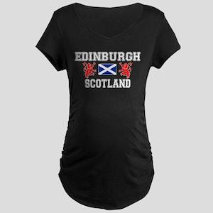 Edinburgh Maternity Black T-Shirt