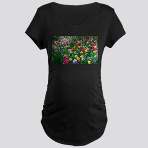 Flower Garden Maternity T-Shirt