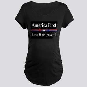 Love it or leave it Maternity Dark T-Shirt