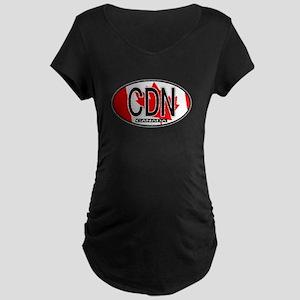 Canada Oval Colors Maternity Dark T-Shirt