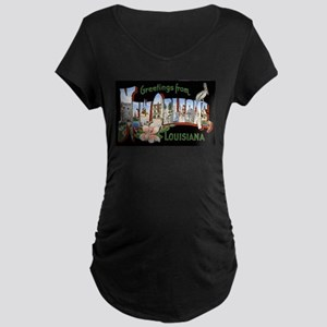 New Orleans Louisiana Greetin Maternity Dark T-Shi