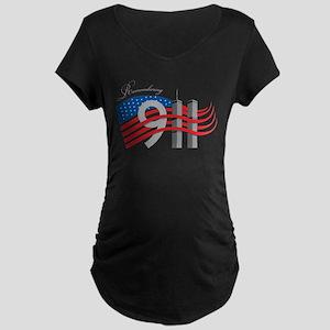 Remembering 911 Maternity Dark T-Shirt