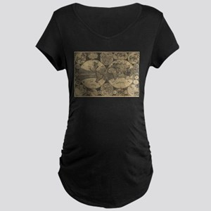 Vintage Map of The World (1702) Maternity T-Shirt